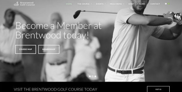 Golf Course Membership WordPress Theme