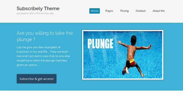 Impressive Membership WordPress Theme