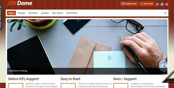 Beautiful Joomla Personal Template