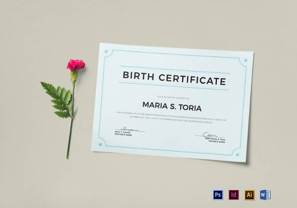Blank Birth Certificate Template