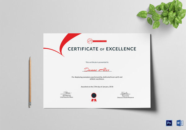 Physical Fitness Certificate of Excellence