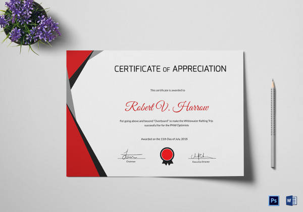 Rafting Training Certificate Template