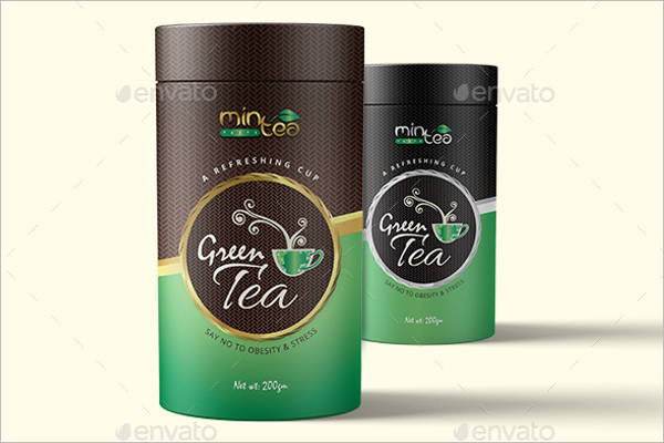 Black Tea Packaging Mockup Design