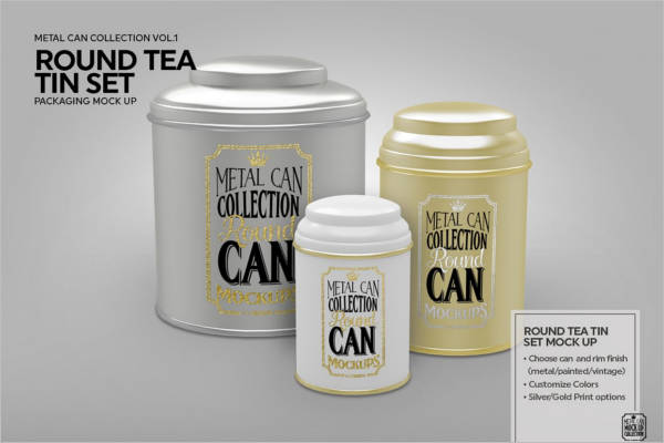 Branded Tea Packaging Mockup Template