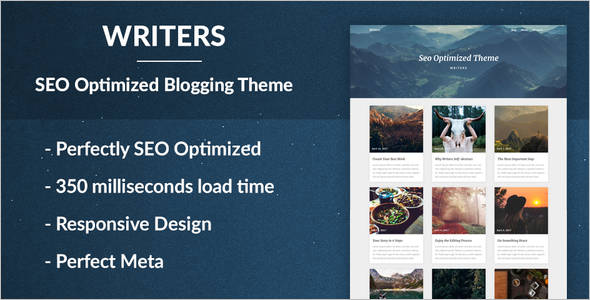 Digital Markting Optimized Writing Theme