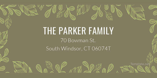 Family Address Label Template