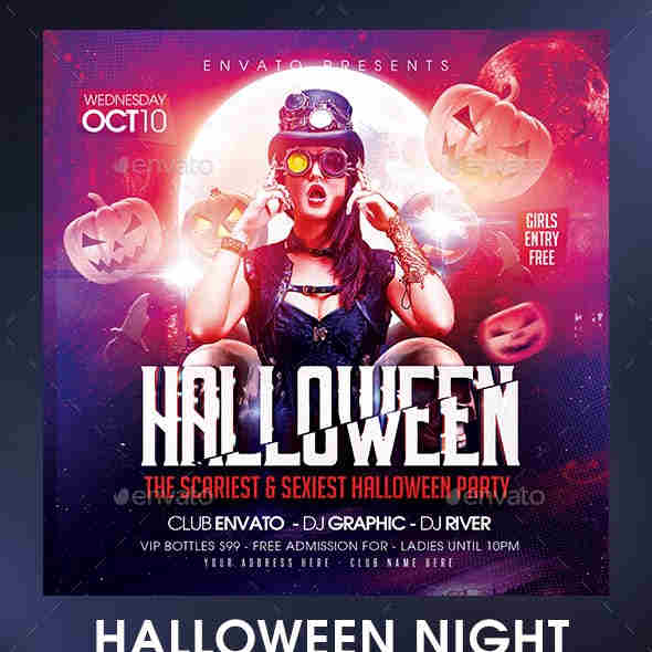 Halloween Night Party Template
