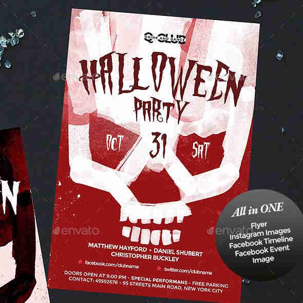 Halloween Party Template Event Special