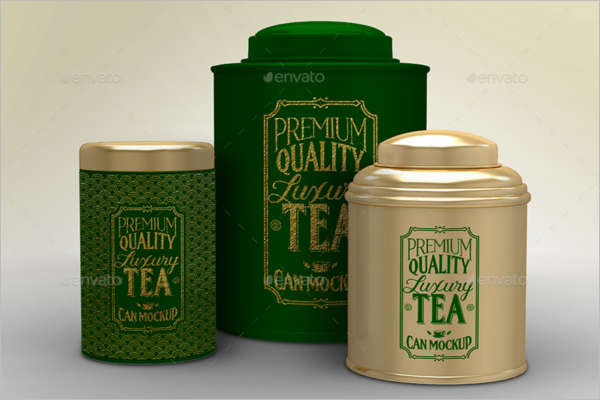 Luxury Tea Packaging Mockup Design