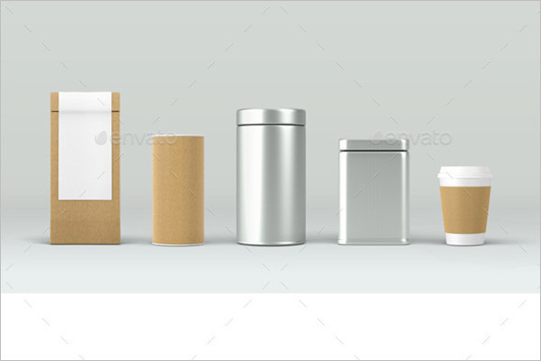 Natural Tea Packaging Mockup Template