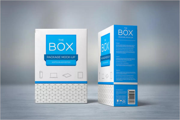 Plastic Box Tea Packaging Mockup