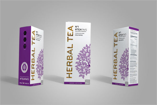 Sample Herbal Tea Packaging Mockup Template