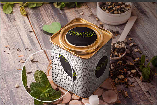 Tea Packaging Mockup Free PSD