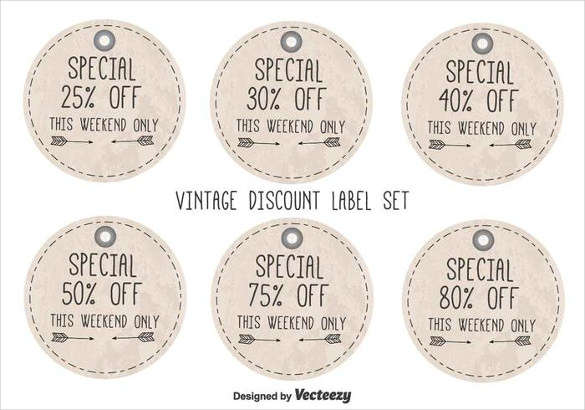 Vintage Free Discount Label