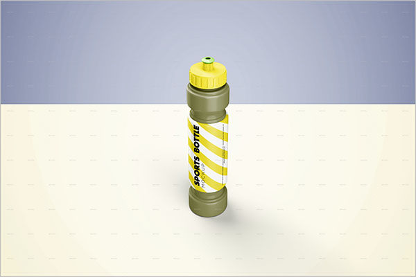 Creative Sports Bottle Mockup