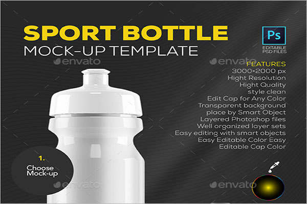 Custom Sport Bottle Mockup