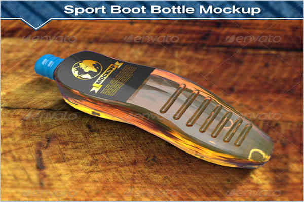 Football Boots Bottle Mockup