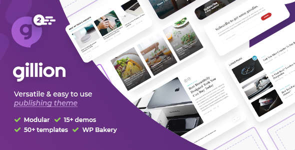 Gillion Multi-Concept BlogMagazine & Shop WordPress Theme