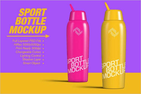 Sport Bottle Mockup Idea