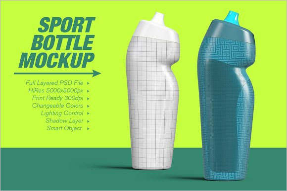 Sport Bottle Mockup PSD