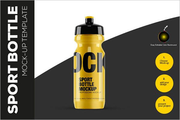 Sports Bottle Mockup Template