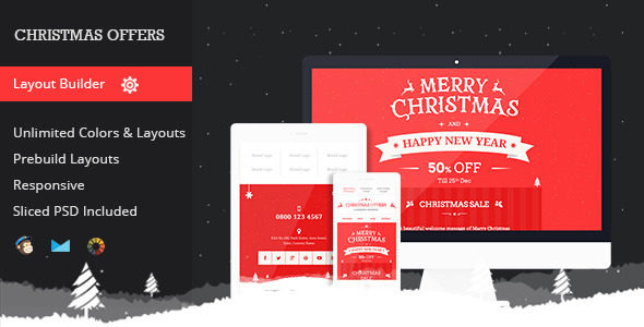 christmas email template offer