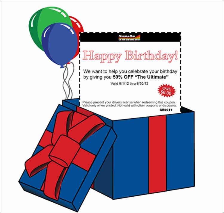 Birthday Email Coupon Design