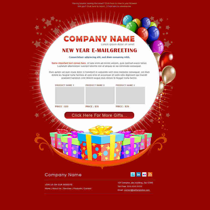 Birthday Greetings Email Template