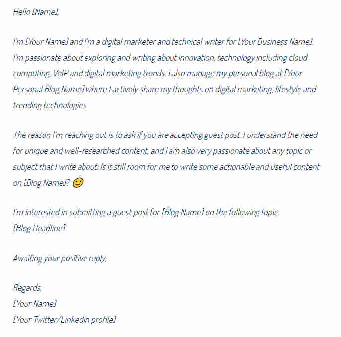 70+ Guest Post Blogging, Outreach Templates - Word, PDF, Editable