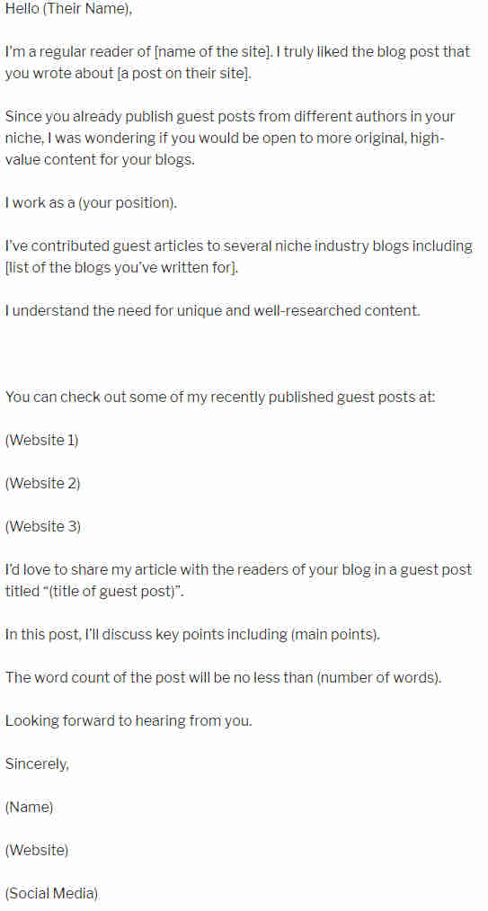 70+ Guest Post Blogging, Outreach Templates - Word, PDF