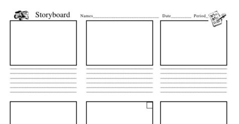 Storyboard Template Word Pdf Formats