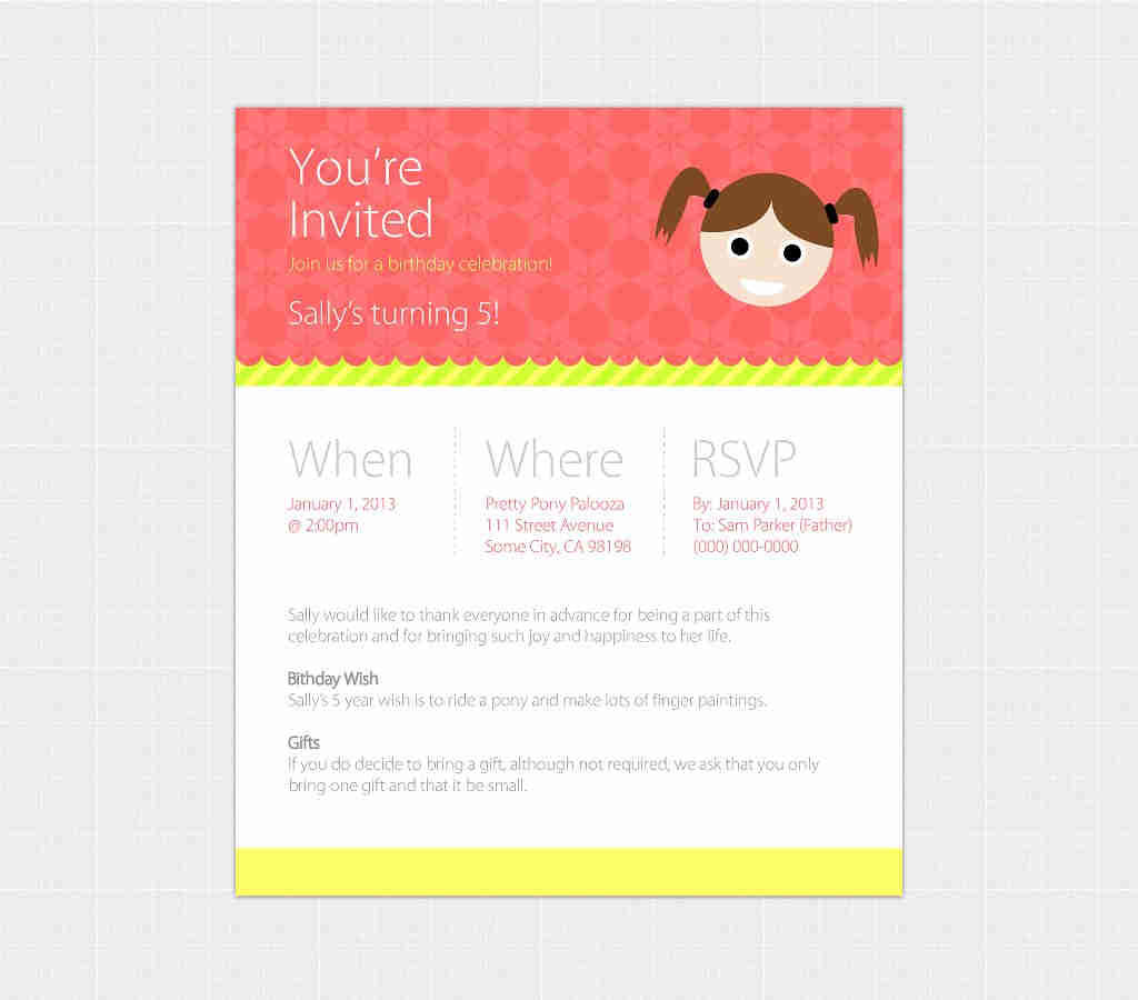 Birthday Invitation Email Template