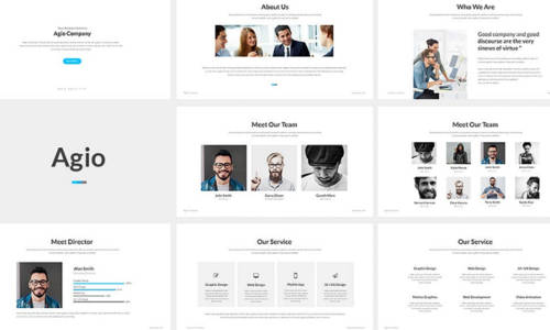 Creative and Minimalist PowerPoint Presentation Template