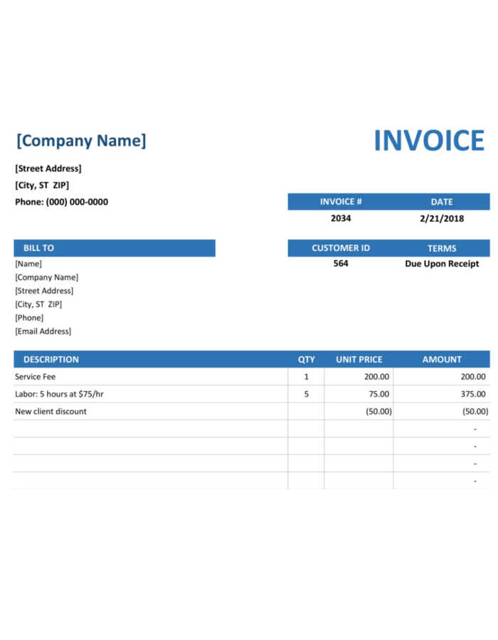 Editable Invoice Template to Download