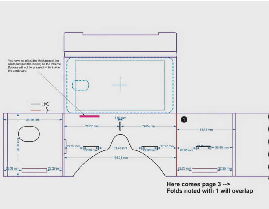 Google Cardboard Pattern Template
