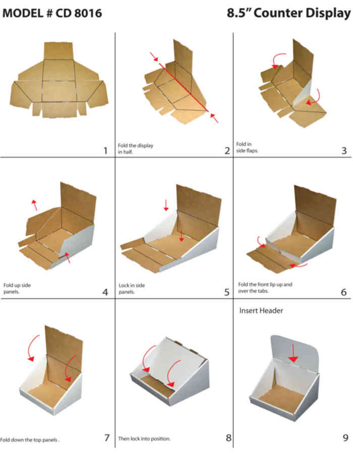 Graphic Cardboard Making Template