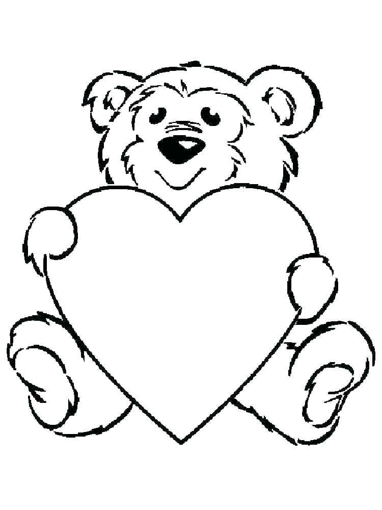 Heart Shaped Animal Coloring Page Free