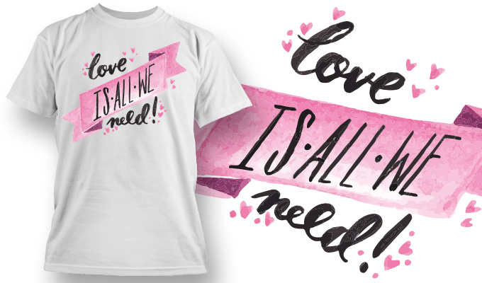 Lovers Special T-shirt Vector Template