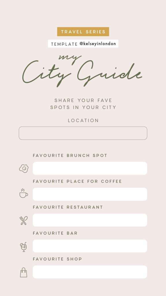 Simple Travel Guide Template