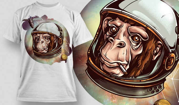 T-Shirt Design Plus – Cosmic Chimp