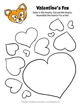 Valentine Heart Shaped Animal Great for Decorating Valentine's Day Bag