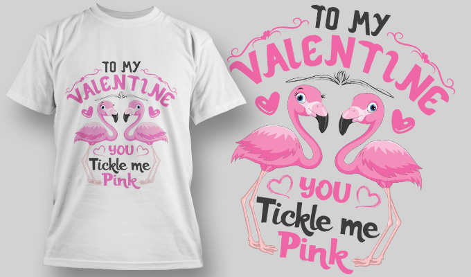 Valentine special gift tshirt template downloadable