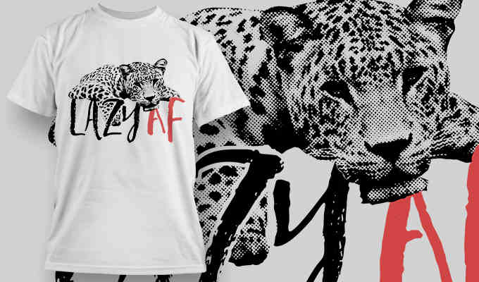 leopard T-shirt designs and templates
