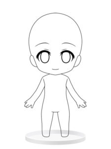manga anime body template