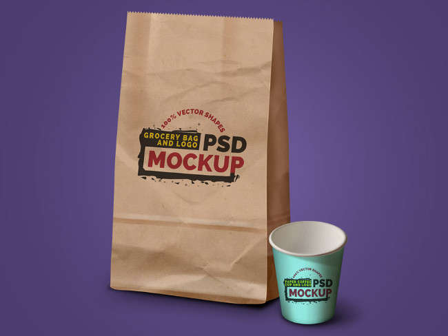 3 Creative Coffee Cup Pack Mockup