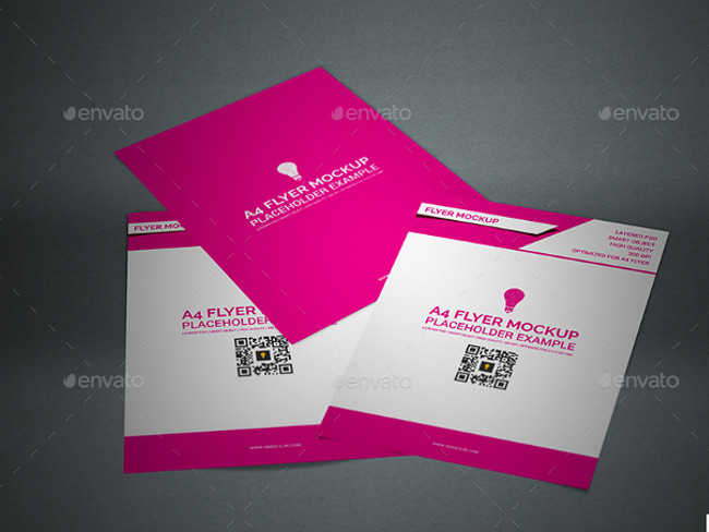 A4 Flyer Mock-up Designs