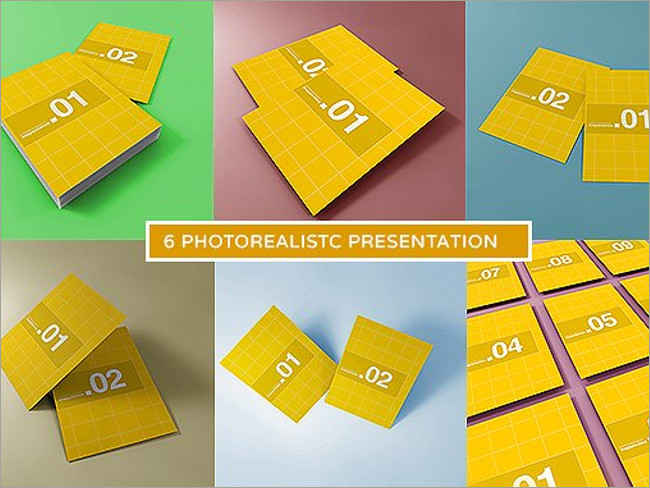 A4 Photo Realistic Mock-ups