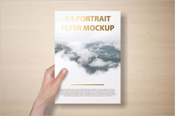 A4 Portrait Flyer Mockup Template