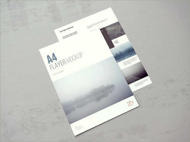 Best A4 Flyer Mock-up