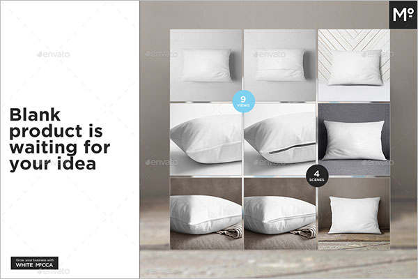 Blank Pillow Cover Mock-up